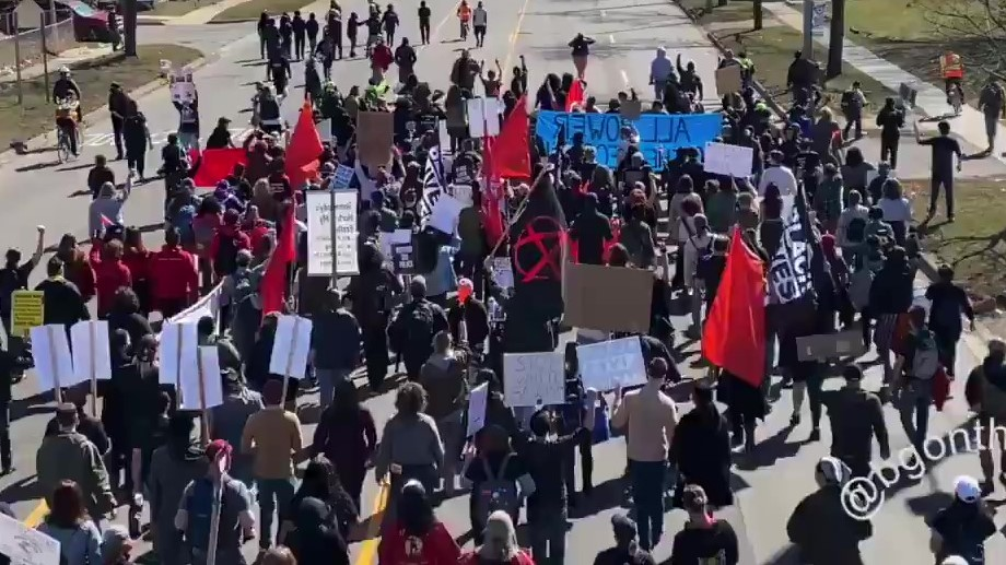 Hundreds of Communists and Anarchists in Lansing Participate in Michigan People's March