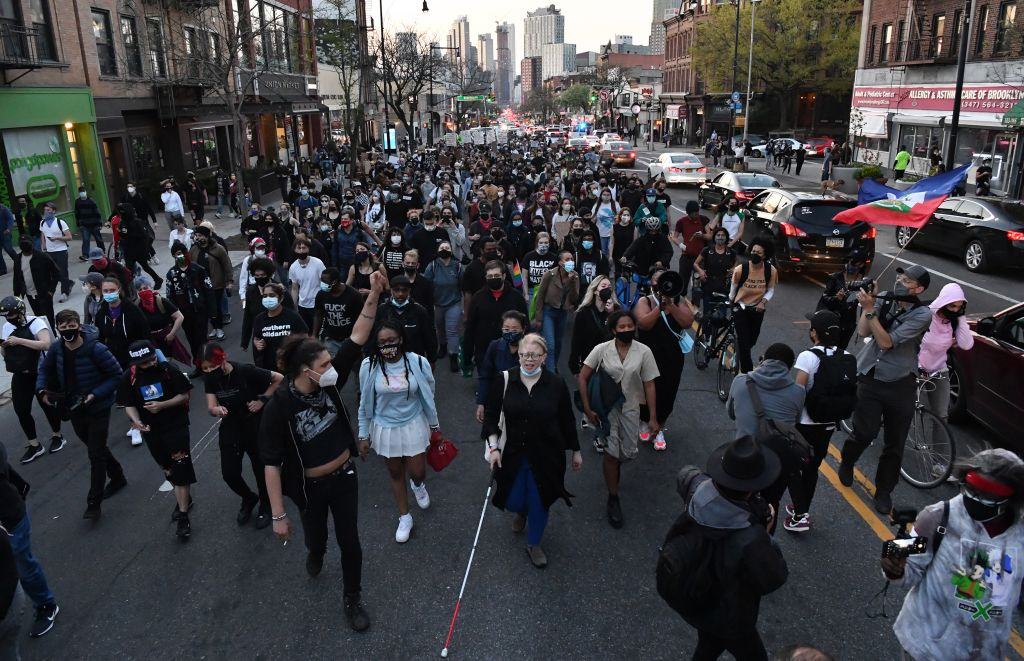 Hundreds in New York City March After Chauvin Verdict
