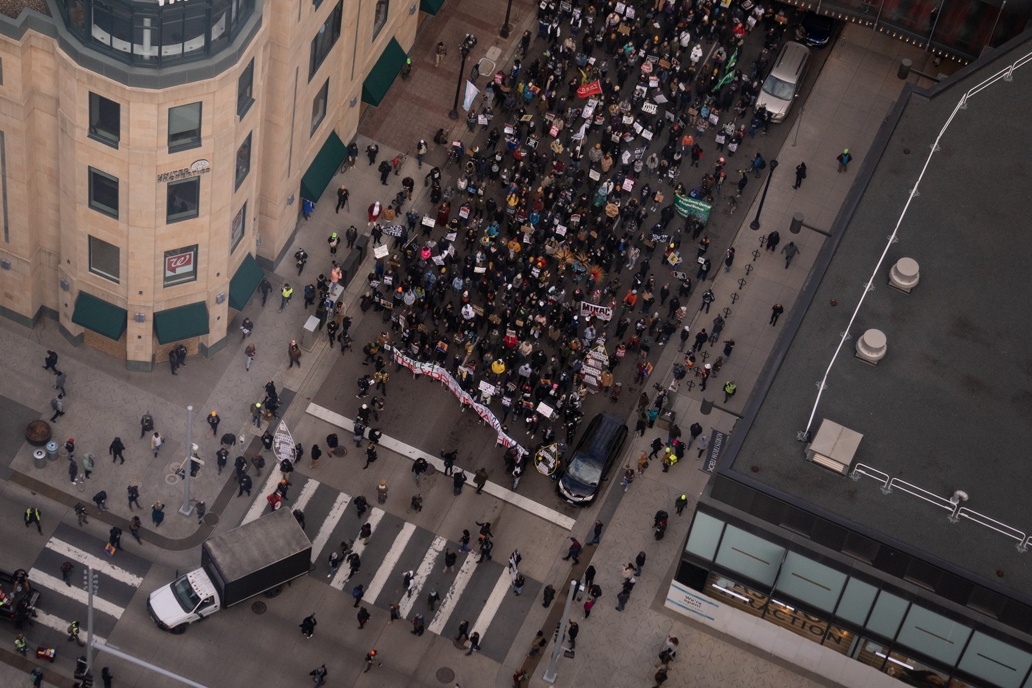 Hundreds in Minneapolis Protest for Justice for George Floyd During Closing Arguments
