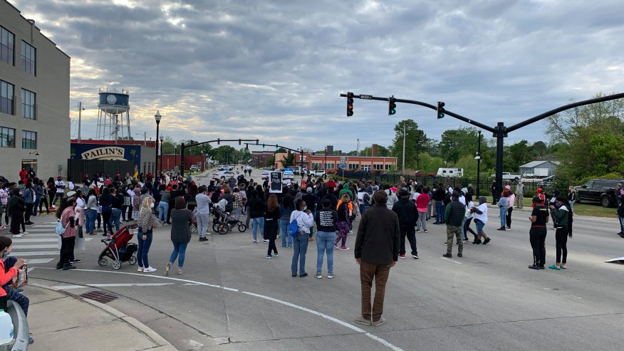 100+ Protesters in Elizabeth City March for 6th Day for Justice for Andrew Brown