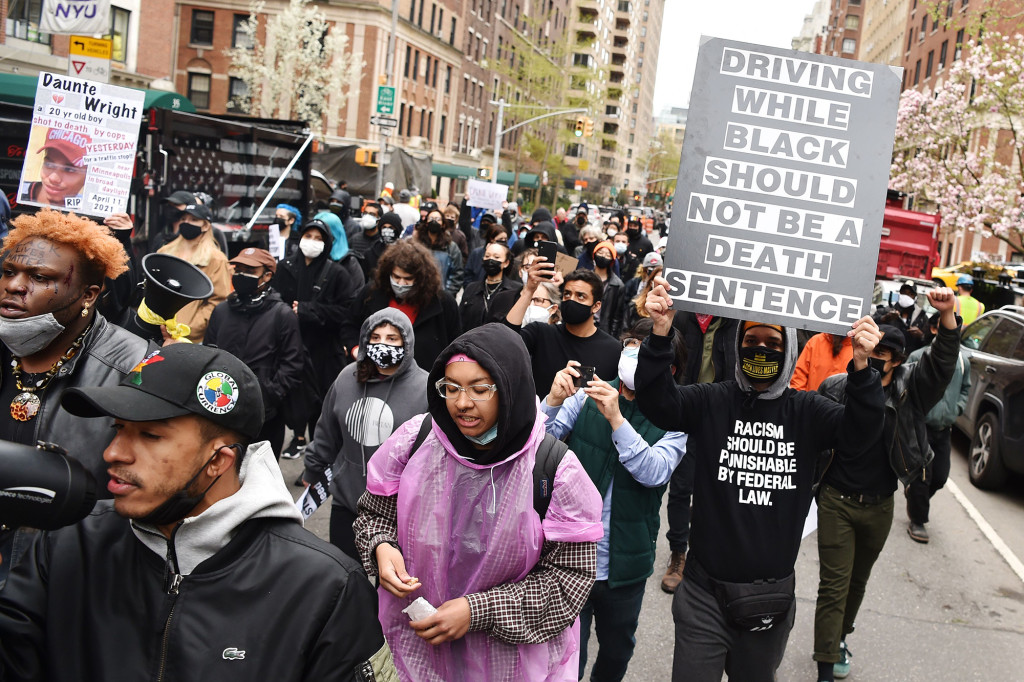 150 Protesters in New York March for Justice After Daunte Wright Murder