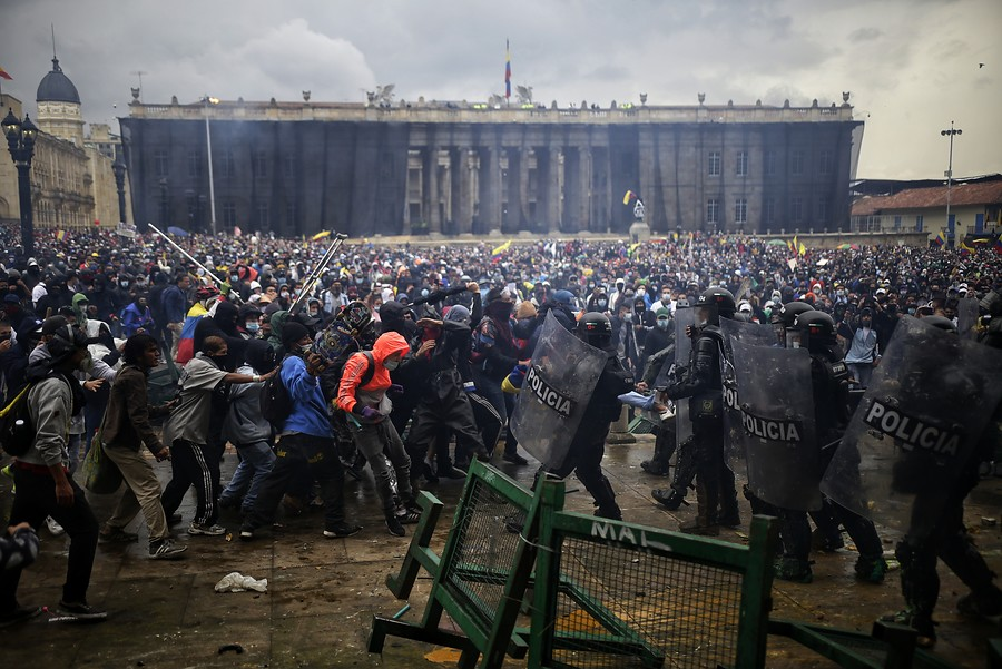 Tens of Thousands of Colombians in Bogota Protest Tax Increase
