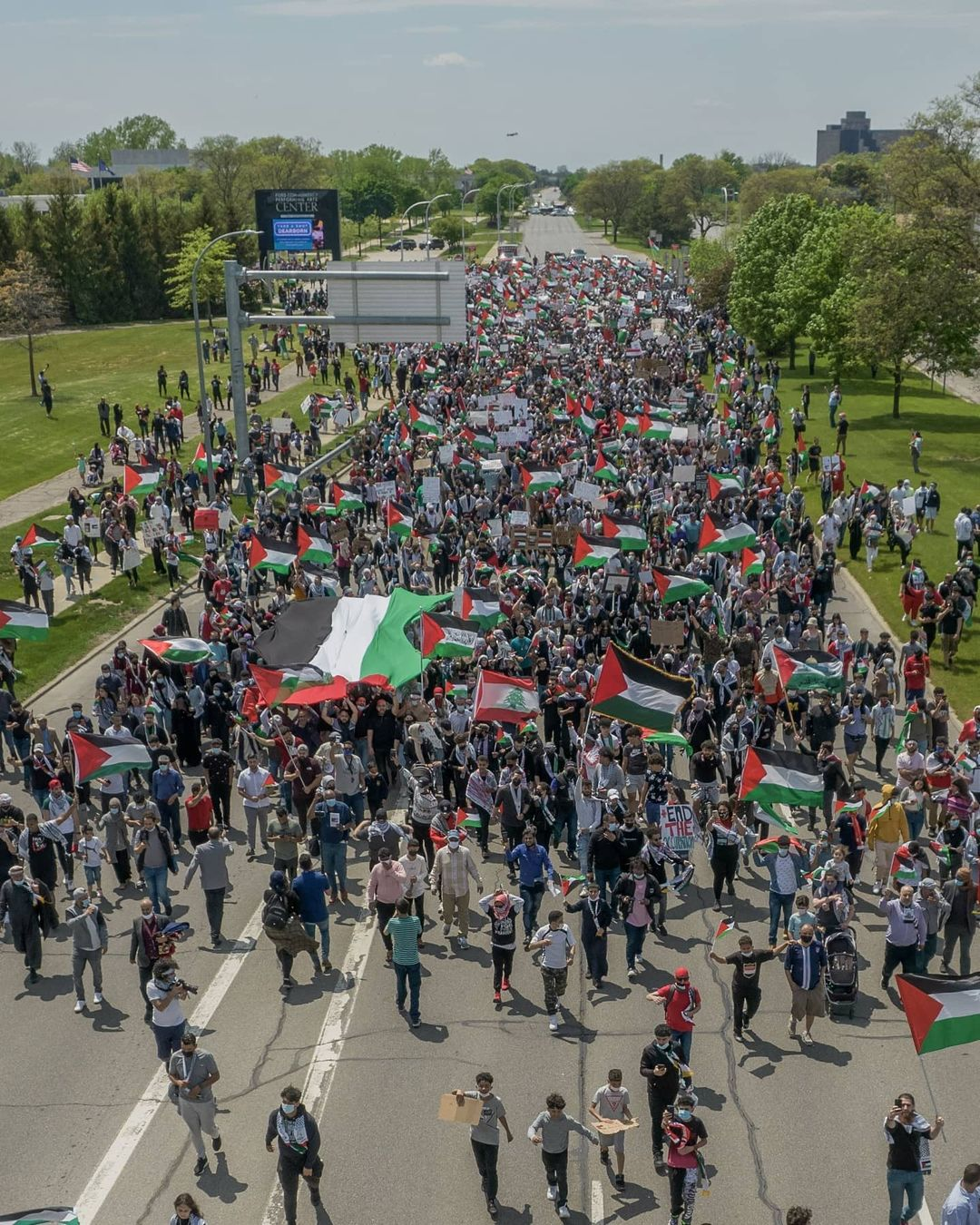 Thousands in Dearborn Protest in Solidarity With Palestinian Struggle