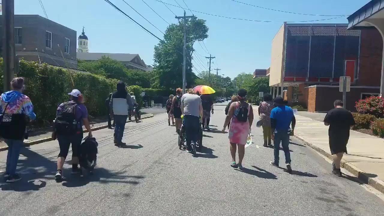 Dozens Protest in Elizabeth City Demanding Justice for Andrew Brown