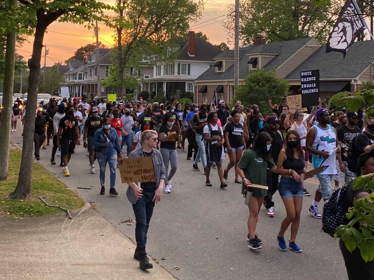 Dozens March in Elizabeth City Demanding Justice for Andrew Brown for 9th Day