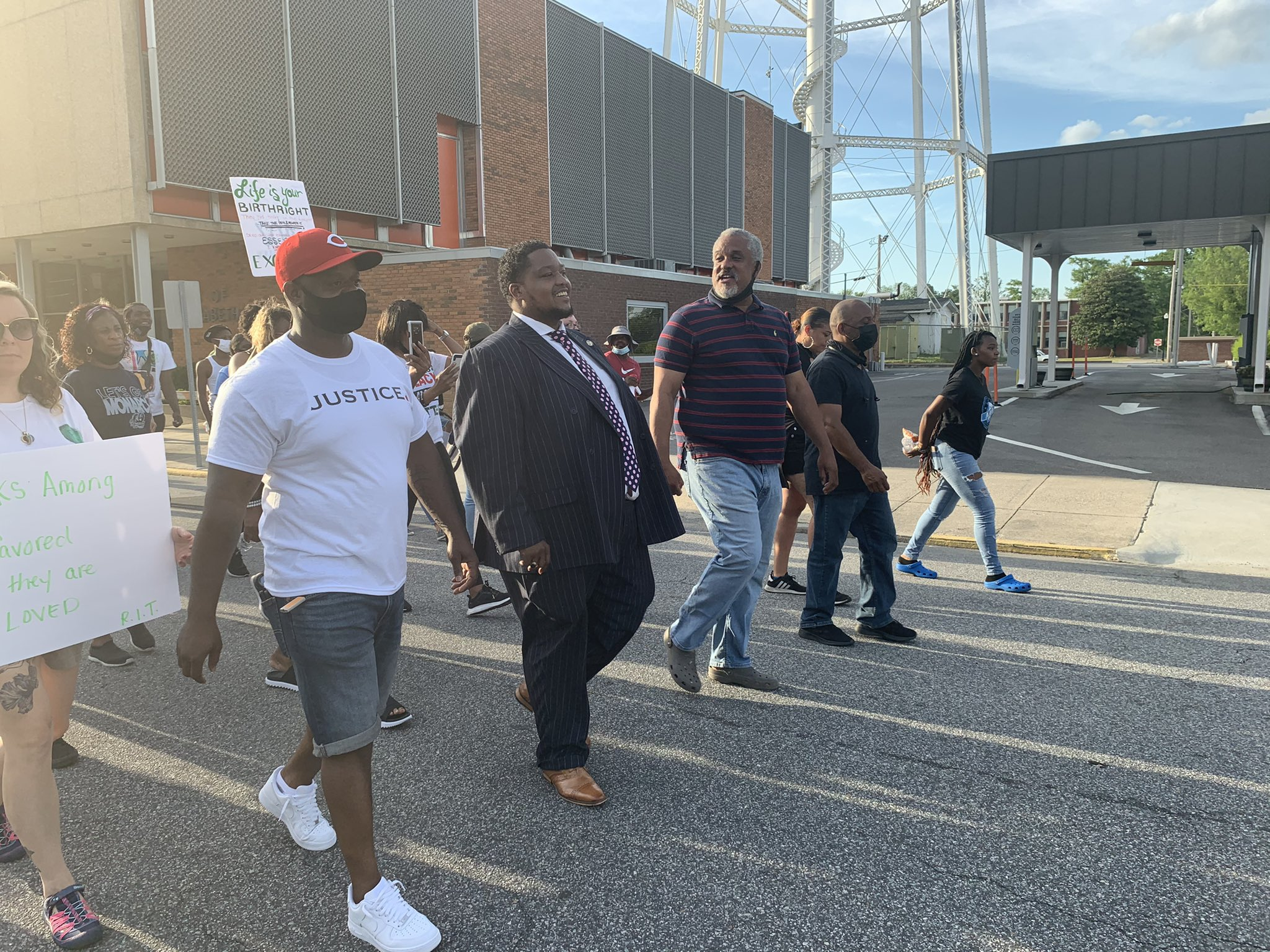 Dozens of Elizabeth City Protesters Demand Justice for Andrew Brown
