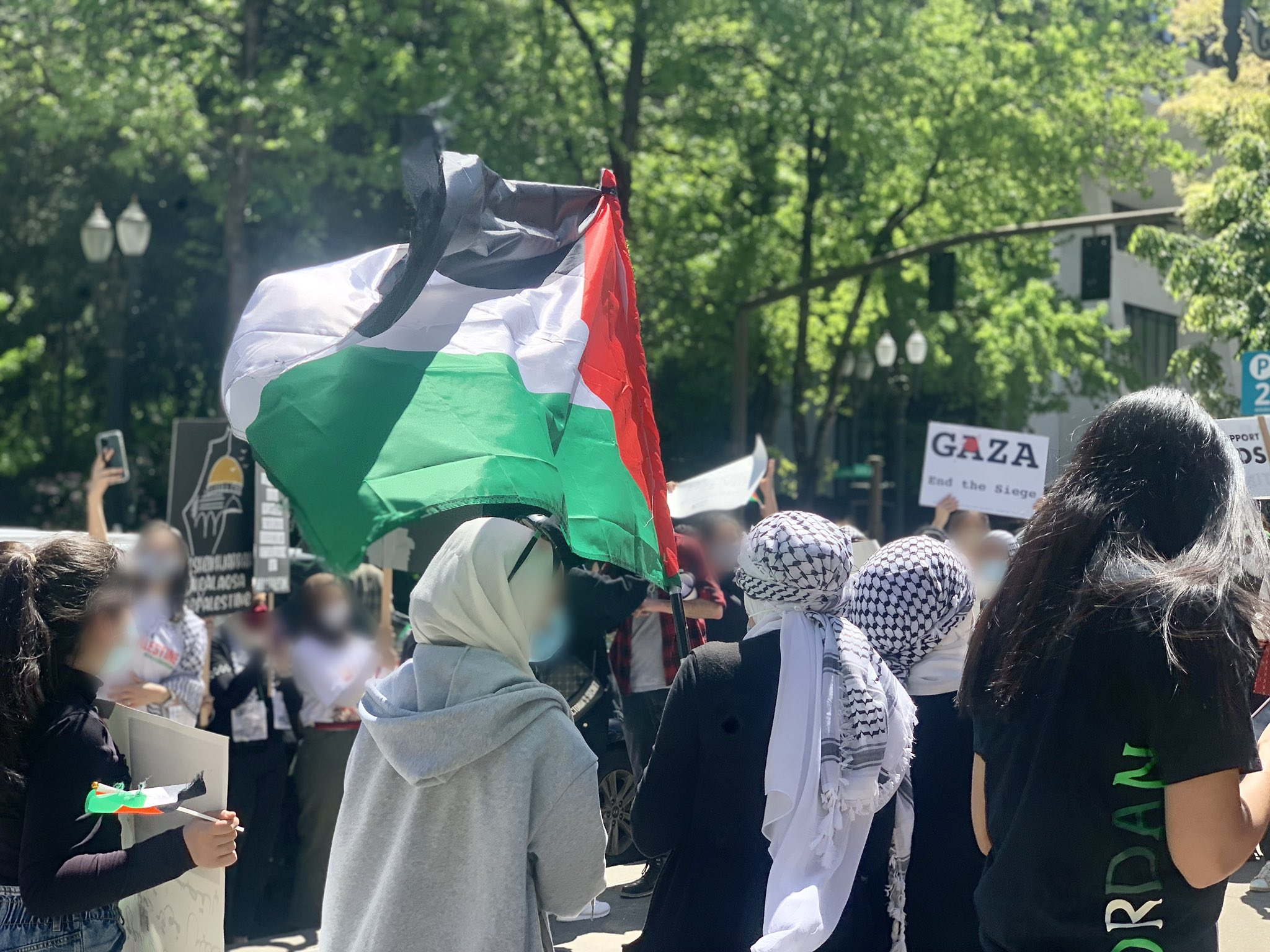 Hundreds in Portland Protest in Solidarity With Palestinian Struggle