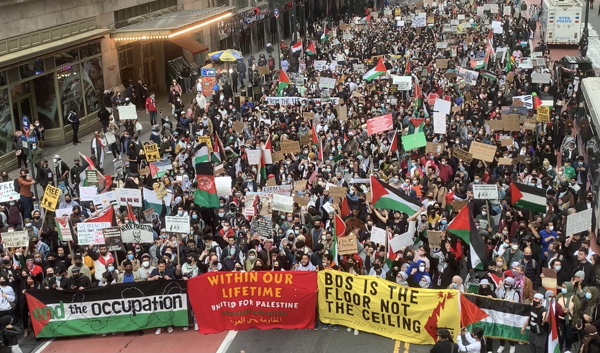 Thousands in New York Protest in Solidarity With Palestine