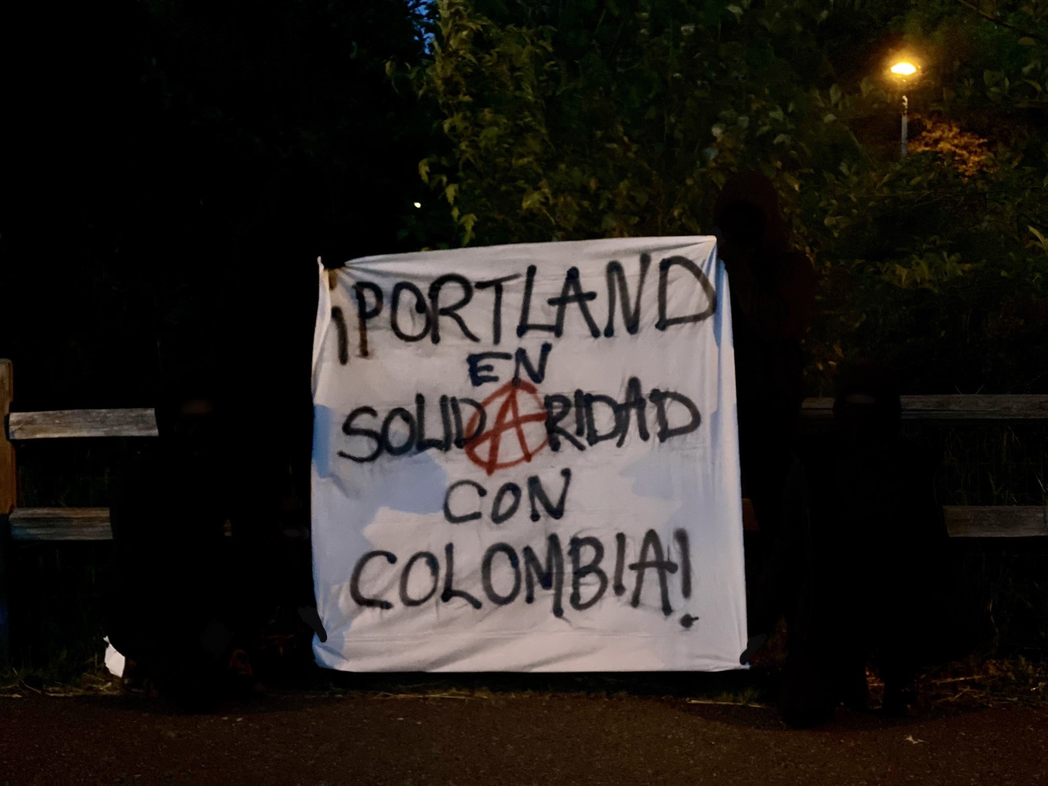Portland Anarchists Protest in Solidarity With Colombia