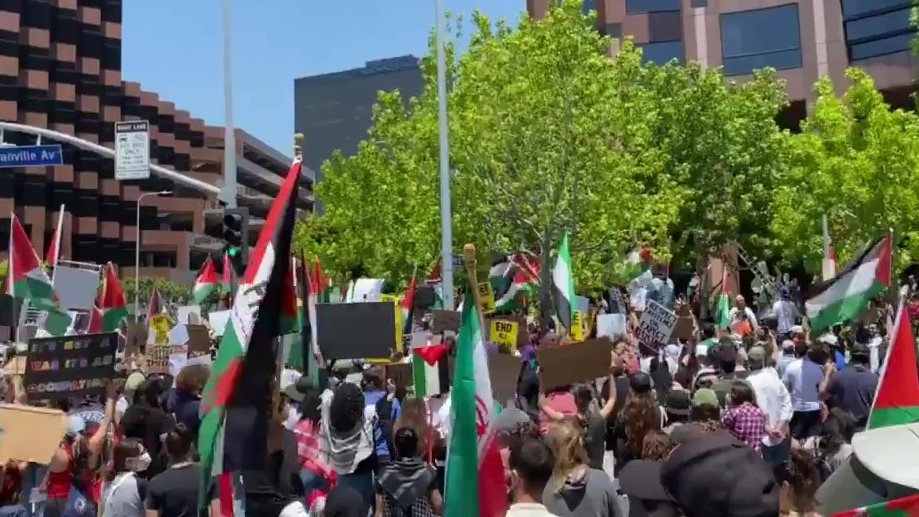 Hundreds in Los Angeles Return to the Streets in Support of Palestine